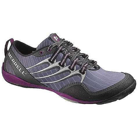 On Sale. Free Shipping. Merrell Women's Lithe Glove Shoe DECENT FEATURES of the Merrell Women's Lithe Glove Shoe Synthetic and fabric softshell upper Microfiber footbed treated with Aegis antimicrobial solution resists odor Merrell Omni-Fit lacing System provides a precise, glove-like fit 4 mm compression molded EVA midsole cushions 1 mm forefoot shock absorption plate maintains forefoot flexibility and protects the foot by distributing pressure Vibram Trail Glove Sole/TC1 Rubber Weight: 1/2 pair: 6.5 oz - $73.99
