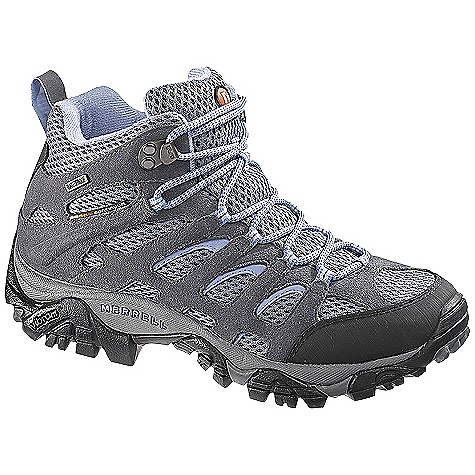 Camp and Hike On Sale. Free Shipping. Merrell Women's Moab Mid WaterProof FEATURES of the Merrell Women's Moab Mid WaterProof Waterproof Dura leather and mesh upper Bellows tongue keeps debris out Synthetic leather toe cap and heel counter M Select dry seals out water and lets moisture escape so you stay dry when you're on the Move M Select Fresh naturally prevents odor before it starts for Fresh smelling feel Molded nylon arch shank Merrell air cushion in the heel absorbs shock and adds stability Merrell QForm Comfort midsole provides women's specific stride sequenced cushioning 5mm lug depth Vibram outsole - $103.99