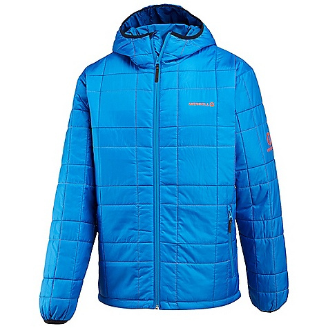 Entertainment Free Shipping. Merrell Men's Adventure Rest Ridgeland Hoodie DECENT FEATURES of the Merrell Men's Adventure Rest Ridgeland Hoodie Jacket packs to form soft neck pillow Colorfully-stitched quilted pattern for signature style Lycra bound hand pockets Durable Vision zippers Inside zip-secure chest pocket Attached Lycra bound hood seals out cold Draw cord hem adjust ability The SPECS Center Back Length: 31in. Insulation: 120 grams Technology: Warm and Dry Super Soft Micro-Ripstop 100% Polyester micro-denier fabric Durable Water Resistant (DWR) finish repels water and resists staining - $168.95