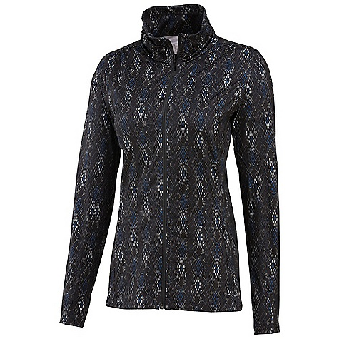Free Shipping. Merrell Women's Lauley Full-Zip DECENT FEATURES of the Merrell Women's Lauley Full-Zip Peach faced for ultra soft hand Shirring at neck adds energy and femininity Set-in sleeves for freedom of motion Colorful geometric shatter print and solids The SPECS Center Back Length: 25in. Technology: Wick Super Stretch Jersey 78% Polyester, 22% Elastane 30+ UPF - $88.95