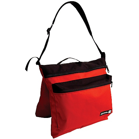 Climbing On Sale. Metolius Bouldering Bag DECENT FEATURES of the Metolius Bouldering Bag The solution to carrying your bouldering gear with a crash pad Nests inside your crash pad Carries as an over-the-shoulder-style bag when not carried in a pad Dual, large 16in. x 16in. (40.6 cm x 40.6 cm), zippered compartments and a smaller 13in. x 10in. (33 cm x 25.4 cm) zippered pocket Padded shoulder strap and webbing carry handle ALL CLIMBING SALES ARE FINAL. - $31.16