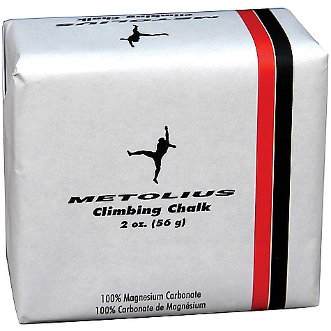 Climbing Metolius Block Chalk DECENT FEATURES of the Metolius Block Chalk 100% Magnesium Carbonate No additives Each block is 2 oz. ALL CLIMBING SALES ARE FINAL. - $1.49