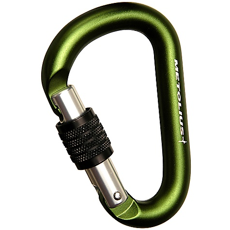Climbing Metolius Element Key Lock Carabiner FEATURES of the Metolius Element Key Lock Carabiner Hot-forged, key-lock design Compact, pear-shaped design for belaying and rappelling Workhorse belay biner for an exceptional price Perfect for our BRD, munter hitch and other belay devices Individually tested to 1/2 its rated strength SPECIFICATIONS of the Metolius Element Key Lock Carabiner Major-Axis Strength: 24 kN / 5400 lbf Minor-Axis Strength: 8 kN / 1800 lbf Gate-Open Strength: 8 kN / 1800 lbf Weight: 2.5 oz / 73 g Gate Opening: 0.74in. / 19 mm Rope-Bearing: 12 mm Surface Width: 0.47in. CE/UIAA certified - $9.95