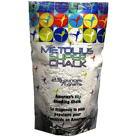 Climbing Metolius Super Chalk 4.5 oz FEATURES of the Metolius Super Chalk 4.5 oz The #1 selling brand of climbing chalk in America The original chalk specifically formulated for rock climbing A safe drying agent is added to the highest-quality magnesium carbonate for maximum sweat absorption and friction - $4.50