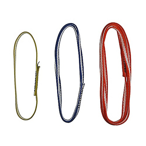 Climbing Metolius 11mm Open Sling DECENT FEATURES of the Metolius 11mm Open Sling Lightweight slings that are perfect for alpine routes The SPECS 11 mm (0.43in.) Dyneema Monster Sling webbing Strength: 22 kN (4950 lbf) The SPECS for 10in. Weight: 0.3 oz. (11 g) The SPECS for 22in. Weight: 0.7 oz. (22 g) The SPECS for 46in. Weight: 1.5 oz. (45 g) ALL CLIMBING SALES ARE FINAL. - $5.95