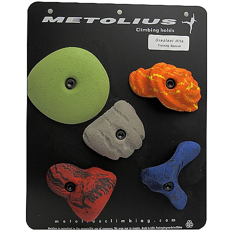 Climbing Features of the Metolius Modular Holds 30 Pack Great variety of medium-sized shapes 12 different set styles available Attaches with 3/8in. socket-head cap screws and includes mounting hardwAre - $151.60