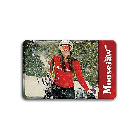 Camp and Hike Free Shipping. Moosejaw Gift Card $100 FREE SHIPPING! Moosejaw Gift Cards were voted in.Best Gift Everin. by made up customer #121. The lucky recipient can redeem his or her Moosejaw Gift Card online at Moosejaw.com or at any Moosejaw Retail Shop! You can write a really nice, meaningful card when you are checking out (or use one of our prepared messages that are sure to impress and we'll include the card in the Gift Card package. We might draw a picture of a lion or a fighter jet on the envelope. Gift Cards earn reward points when they are redeemed not when they are purchased so think of it as an extra bonus gift for the card recipient. You should also know that Moosejaw Gift Cards are not returnable. Sorry for being so mean about it. And don't think of a Moosejaw Gift Card as an easy way out of gift buying. This isn't a bookstore or coffee shop. This is Moosejaw -- the hippest, coolest, craziest gear website around. We will treat your gift recepient to the same Moosejaw Madness that you are sure to receive. And if they don't love it, they probably won't tell you anyway so who really cares. Ok, did you buy a Moosejaw Gift Card yet? - $100.00