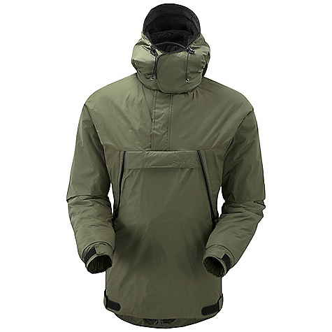 Extreme Free Shipping. Montane Men's Extreme Smock DECENT FEATURES of the Montane Men's Extreme Smock Highly windproof, breathable and fast drying Pertex Classic 6 outer shell Reinforced tough Polardri elbows and forearms Articulated arms for reach high movement and tailored specifically to reduce hem lift Fully adjustable and removable pile lined helmet compatible mountain hood with three point adjustment and wired peak Soft fleece beardguard around face and mouth for extra comfort Two deep A-line hand-warmer pockets positioned well clear of backpack or climbing harness belt Montane Cross-Vent system to aid cooling whilst working hard Large pouch pocket with accessory attachment ring Glove attachment loops on forearms 1/2 length baffled two way YKK front zip Two way YKK zippered side vents with storm flap Two YKK zippered and venting hand-warmer pockets Adjustable cuffs with grab tabs for ease of use with gloves or mitts Adjustable hem to prevent spindrift entry and heat loss Removable crotch strap to prevent hem riding up whilst reaching high Scotchlite reflective details for mountain safety The SPECS Weight: M: 36 oz / 1,020 g Activities: Polar Exploration / Alpine Climbing / Mountain Walking / Trekking / Outdoor Professional Fit: Active Mountain Fabric: Pertex Classic 6 Reinforcement: Polardri Mini-Rip Lining: Dry Active 3000 This product can only be shipped within the United States. Please don't hate us. - $158.95