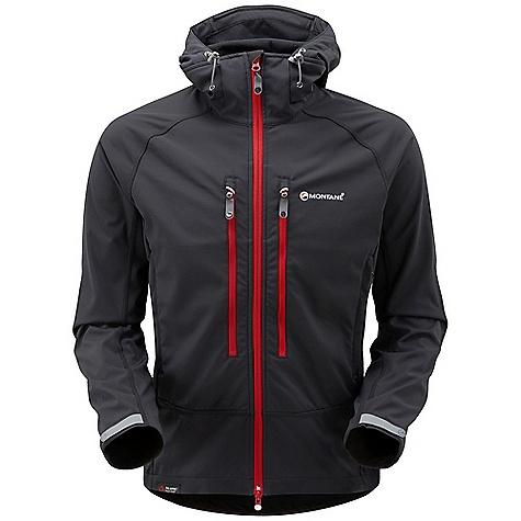 Climbing Free Shipping. Montane Men's Sabretooth Jacket DECENT FEATURES of the Montane Men's Sabretooth Jacket The Sabretooth uses Polartec Power Shield; a highly effective wind blocking, breathable, water repellent and abrasion resistant fabric. Articulated arms for reach high movement and tailored specifically to reduce hem lift Flatlocked sewn seams throughout for extra comfort and durability Fully adjustable helmet compatible mountain hood with three point adjustment and wired peak Internal tab to lock down and roll away the hood in windy conditions Soft fleece beardguard around face and mouth for extra comfort Two map-sized mesh lined zipped Napoleon chest pockets for easy access to essentials whilst on the move Two micro fleece lined hand-warmer pockets positioned clear of waist belt or harness Full length, reversed and baffled two way YKK front zip for ease of use with a climbing harness Adjustable cuffs with grab tabs for ease of use with gloves or mitts Adjustable hem to prevent spindrift entry and heat loss The SPECS Weight: L: 19.8 oz / 560 g Activities: Alpine Climbing / Ice Climbing / Backcountry Skiing / Mountain Walking / Trekking Fit: Active Mountain Main Body: Polartec Power Shield This product can only be shipped within the United States. Please don't hate us. - $264.95