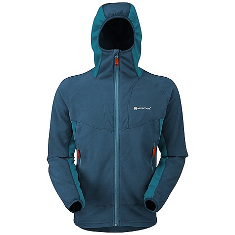 Climbing Free Shipping. Montane Men's Fury Jacket DECENT FEATURES of the Montane Men's Fury Jacket Polartec Classic Micro has a superb warmth to weight ratio Dry Active Stretch under the arms and across the shoulders for stretch and moisture movement Pertex Microlight chin to sternum underlay protects against the wind whilst layering with a shell Flatlocked sewn seams throughout for extra comfort and durability Articulated arms for reach high movement and tailored specifically to reduce hem lift Balaclava style 'Spindrift Hood' for a close snug fit and to work under a mountaineering helmet Two deep A-line hand-warmer pockets positioned well clear of backpack or climbing harness belt Full length, reversed and baffled two way YKK front zip for ease of use with a backpack or climbing harness Low bulk elasticated cuffs which can be pulled up forearms to aid cooling Adjustable hem to prevent cold air entry and heat loss The SPECS Weight: L: 13.1 oz / 370 g Activities: Alpine Climbing / Mountain Walking / Trekking / Travel Fit: Active Mountain Fabrics: Polartec Classic Micro Stretch: Dry Active Stretch Underlay: Pertex Microlight Mini Rip-stop This product can only be shipped within the United States. Please don't hate us. - $168.95
