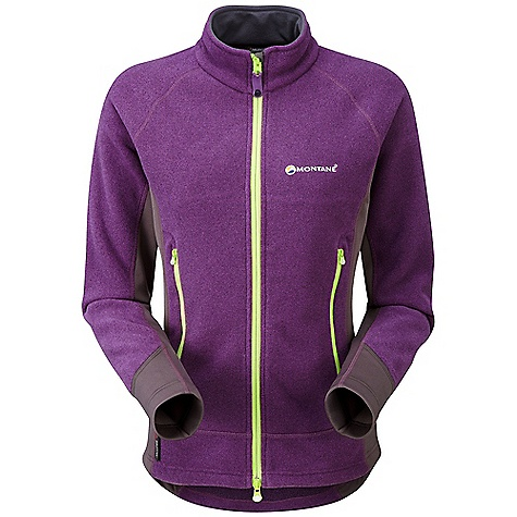 Climbing Free Shipping. Montane Women's Liberty Jacket DECENT FEATURES of the Montane Women's Liberty Jacket Polartec Classic 200 is comfortable next to the skin and provides high warmth with minimal weight. Bi-fabric zoned construction with Dry Active Stretch body contoured side panels Articulated arms for reach high movement and tailored specifically to reduce hem lift Soft fleece guard around face and mouth for extra comfort Two zipped, mesh-lined hand-warmer pockets positioned well clear of backpack or climbing harness belt Full length two way reversed front YKK zip with anti-snag baffle Low bulk elasticated cuffs which can be pulled up up forearms to aid cooling Adjustable hem and collar to prevent cold air entry and heat loss The SPECS Weight: 13.2 oz / 375 g Activities: Mountain Walking / Hill Walking / Trekking / Travel Fit: Active Mountain Fabric: Polartec Classic 200 Stretch: Dry Active Stretch This product can only be shipped within the United States. Please don't hate us. - $138.95