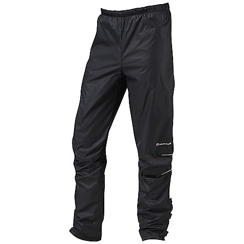 Climbing Free Shipping. Montane Women's Featherlite Pant DECENT FEATURES of the Montane Women's Featherlite Pant PERTEX Microlight outer that is windproof, fast drying and features a remarkable durable water repellent finish French seams throughout for extra strength, quality and weather resistance Articulated knees for step high movement, perfect for mountain use Elasticated waist with adjustable, lockable drawcord 1/4 length YKK side zips for ventilation and the ability to pull over trail footwear Velcro calf tabs which reduce volume around calves minimising wind resistance and abrasion on the inner lower leg Montane enhanced breathing panels in lumbar 360deg 'Dusk Till Dawn' reflective trim Montane stuff sac perfect for storage on the move The SPECS Weight: 3.9 oz / 110 g Activities: Mountain Walking / Climbing / Trail Running / Biking Fit: Active Mountain Fabric: PERTEX Microlight Mini Rip-Stop, PEAQ Air This product can only be shipped within the United States. Please don't hate us. - $83.95