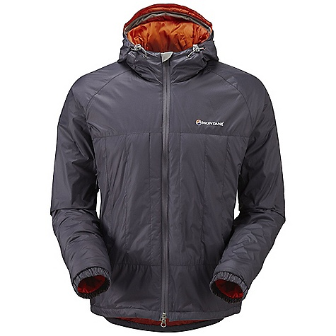 Climbing Free Shipping. Montane Men's Prism Jacket FEATURES of the Montane Men's Prism Jacket Pertex Microlight outer fabric that is completely windproof, fast drying and features an exceptional durable water repellency 40g Primaloft ECO insulation throughout the body is warm, packable and exceptionally fast drying 40g Primaloft ECO in front of and behind the pockets, giving this area 80g of insulation in total Articulated arms for reach high movement and tailored specifically to reduce hem lift Fully adjustable helmet compatible mountain hood with three point adjustment and wired peak Internal tab to lock down and roll away the hood in windy conditions Soft fleece beardguard around face and mouth for extra comfort Two insulated hand-warmer pockets positioned well clear of backpack or climbing harness belt Full length, reversed and baffled YKK front zip Low bulk and profile elasticated cuffs which can be pulled up forearms to aid cooling Adjustable hem to prevent spindrift entry and heat loss Scotchlite reflective details for mountain safety Stuffs into right hand pocket for easy storage and use as a small sleeping pillow Activities: Fast Alpine / Rock Climbing / Mountain Walking / High Trekking / Backpacking / Mountain Marathon / Biking / Travel - $148.95