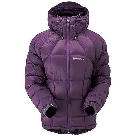 Camp and Hike Free Shipping. Montane Women's North Star Jacket DECENT FEATURES of the Montane Women's North Star Jacket Free Flow Ultralite 45g/m2, 800mm minimum hydrostatic head, highly water resistant outer shell PEAQ Down liner that is comfortable next to the skin, highly breathable and fast drying Exceptionally high quality goose down with a 800+ fill power Stitch through down panel construction Articulated arms for reach high movement and tailored specifically to reduce hem lift Fully adjustable helmet compatible mountain hood with 3 point adjustment and wired peak Internal tab to lock down and roll away the hood in windy conditions Soft fleece chin guard around neck for extra comfort Two deep hand warmer-pockets positioned well clear of backpack or climbing harness belt Full length, reversed and baffled two way YKK front zip for ease of use with a backpack or climbing harness Adjustable cuffs with grab tabs for ease of use with gloves or mitts Adjustable waist and hem to prevent spindrift entry and heat loss Discreet Scotchlite reflective details for mountain safety Own waterproof storage Montane stuff sac The SPECS Weight: 16.6 oz / 470 g Activities: Lightweight Alpine Climbing / Mountain Walking / Winter Camping Fit: Active Mountain Fabric: Free Flow Ultralite Filling: 200g (UK 12) of 93/7 goose down at 800+ fill (USA Lining: Ultra soft PEAQ Down This product can only be shipped within the United States. Please don't hate us. - $298.95