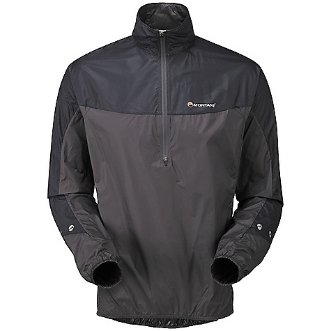 Climbing Free Shipping. Montane Men's Featherlite Smock DECENT FEATURES of the Montane Men's Featherlite Smock Pertex Microlight outer that is windproof, fast drying and features a remarkable durable water repellent finish French seams throughout for extra strength, quality and weather resistance Articulated arms for reach high movement and tailored specifically to reduce hem lift 1/2 length, semi-automatic YKK front zip with anti-snag baffle and wind-strip Low bulk elasticated cuffs that can be pulled up to forearms to aid cooling Elasticated hem to reduce weather entry and heat loss Montane logo 360deg 'Dusk Till Dawn' reflective trim Montane stuff sac perfect for storage on the move The SPECS Weight: M: 3.7 oz / 105 g Activities: Mountain Walking / Climbing / Trail Running / Biking Fit: Classic Mountain Fabric: Pertex Microlight Mini Rip-stop Reinforcement: Pertex Microlight Cross Rip-stop This product can only be shipped within the United States. Please don't hate us. - $83.95