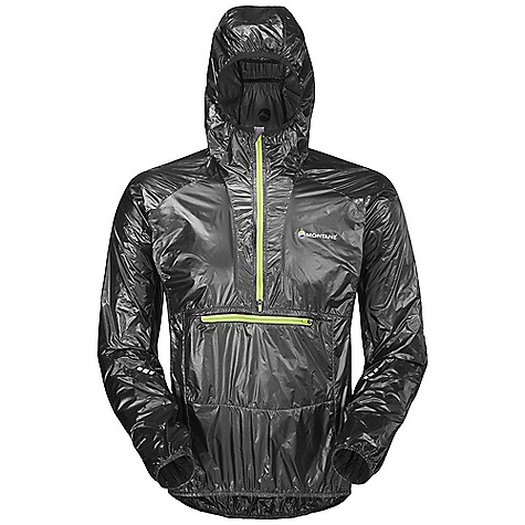 Climbing Free Shipping. Montane Men's Slipstream GL Smock DECENT FEATURES of the Montane Men's Slipstream GL Smock Pertex Quantum GL is an ultra lightweight, windproof and breathable fabric that is rustle free and has an exceptional durable water repellency French seams throughout for extra strength, quality and weather resistance Articulated arms for reach high movement and tailored specifically to reduce hem lift Snorkel hood with pre-adjusted elastication Front stash bib pocket for gel shots, route card etc Two way 1/2 length semi-automatic YKK front zip 360deg 'Dusk Till Dawn' reflective trim Super lightweight Pertex Quantum Montane stuff sac The SPECS Weight: M: 2.8 oz / 80 g Activities: Ultra Distance Mountain Running / Lightweight Backpacking and Climbing Fit: Athletic Mountain Fabric: Pertex Quantum GL This product can only be shipped within the United States. Please don't hate us. - $158.95