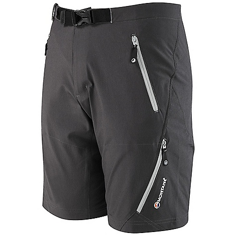 Free Shipping. Montane Men's Terra Alpine Short DECENT FEATURES of the Montane Men's Terra Alpine Short GRANITE STRETCH fuses Nylon and Spandex to provide four way stretch and great abrasion resistance Twin needle sewn seams for extra durability Active cut with high lift crotch Tailored waist to reduce excess fabric with repairable button fastening Zipped fly and webbing belt with low profile buckle Two zipped hand pockets for storage of essentials whilst on the move Zipped pull out security pocket The SPECS Weight: M: 9.7 oz / 275 g Activities: Mountain Walking / Trekking / Travel Fit: Active Mountain Fabric: Granite Stretch This product can only be shipped within the United States. Please don't hate us. - $83.95