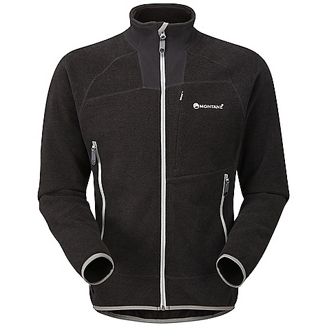 Climbing Free Shipping. Montane Men's Volt Jacket DECENT FEATURES of the Montane Men's Volt Jacket POLARTEC(R) Thermal Pro(R) Honeycomb creates air pockets, trapping, retaining body heat and endowing the Volt with outstanding warmth without weight Flatlocked sewn seams throughout for extra durability Large OS map pocket with variable height YKK zip opening Two mesh lined hand-warmer pockets clear of a backpack or climbing harness belt Concealed zipped chest security pocket for handy essentials whilst on the move Full length, reversed and baffled two way YKK front zip for ease of use with a backpack or climbing harness Lycra bound hem and cuffs for a low profile The SPECS Fabric: POLARTEC(R) Thermal Pro(R) Honeycomb Side panels: POLARTEC(R) Classic Micro Weight: 455g / 16oz This product can only be shipped within the United States. Please don't hate us. - $158.95
