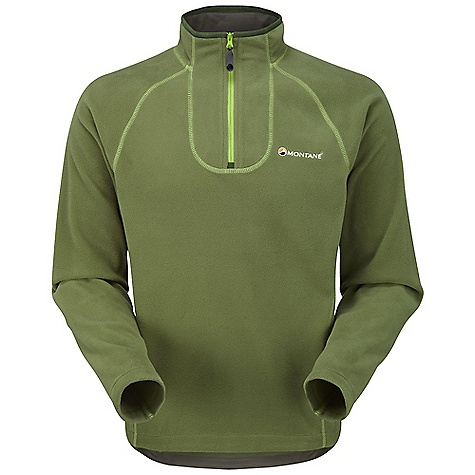 Free Shipping. Montane Men's Chukchi Shirt DECENT FEATURES of the Montane Men's Chukchi Shirt POLARTEC(R) Classic Micro offers warmth with minimal weigh, is highly breathable and quick drying for excellent comfort next to the skin Flatlocked sewn seams throughout for extra durability Soft fleece beardguard around collar and hem for extra comfort, and to maintain shape Deep centre front neck zip for good venting options The SPECS Fabric: POLARTEC(R) Classic Micro Weight: 240g / 8.3oz This product can only be shipped within the United States. Please don't hate us. - $98.95
