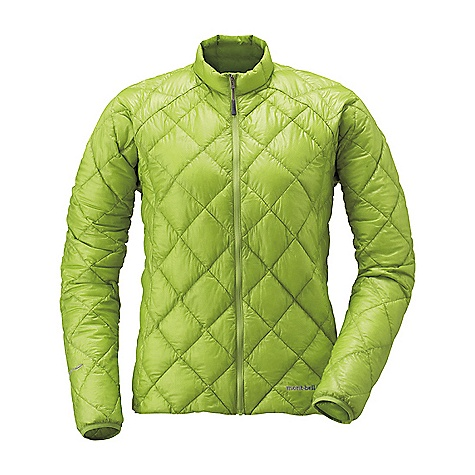Climbing Free Shipping. MontBell Women's EX Light Down Jacket DECENT FEATURES of the MontBell Women's EX Light Down Jacket Sewn thru construction No pockets Elastic cuffs to seal out drafts Stuff sack included Due to the use of ultra light fabrics these garments may require special care The SPECS Weight: Medium: 4.5 oz Fill Weight: 1.4 oz Fabric: 900 Fill power goose down, 7-denier Ballistic Air light calendared nylon, Standard 25-wash rated DWR treatment ALL CLIMBING SALES ARE FINAL. This product can only be shipped within the United States. Please don't hate us. We cannot ship MontBell products outside the United States or Canada. Sorry about everything. - $198.95