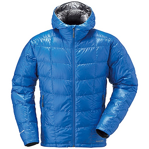 Climbing Free Shipping. MontBell Men's U.L. Down Parka DECENT FEATURES of the MontBell Men's U.L. Down Parka Sewn thru construction 2 zippered hand warmer pockets Draw cords for hem adjustment hidden in pockets Insulated 2-way adjustable hood Stuff sack included The SPECS Fabric: 800 fill power goose down 15-denier Ballistic Airlight nylon shell 100-wash rated Polkatex DWR treatment Center Back Length: Medium: 27.6in. Compressed: 4.3in. x 7.7in. (stuff sack included) Weight: Medium: 9.5 oz Fill Weight: 2.5 oz ALL CLIMBING SALES ARE FINAL. This product can only be shipped within the United States. Please don't hate us. We cannot ship MontBell products outside the United States or Canada. Sorry about everything. - $174.95