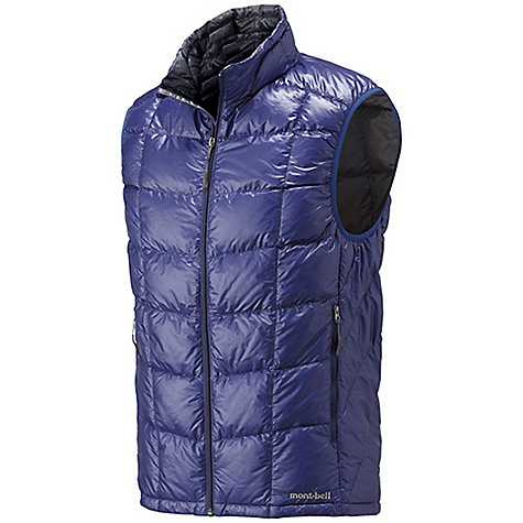 Climbing Free Shipping. MontBell Men's U.L. Down Vest DECENT FEATURES of the MontBell Men's U.L. Down Vest Sewn thru construction 2 zippered hand warmer pockets Stuff sack included The SPECS Fabric: 800 fill power goose down 15-denier Ballistic Airlight nylon shell 100-wash rated Polkatex DWR treatment Center Back Length: Medium: 27.6in. Compressed: 3.9in. x 5.5in. (stuff sack included) Weight: Medium: 5.1 oz Fill Weight: 1.5 oz ALL CLIMBING SALES ARE FINAL. This product can only be shipped within the United States. Please don't hate us. We cannot ship MontBell products outside the United States or Canada. Sorry about everything. - $118.95