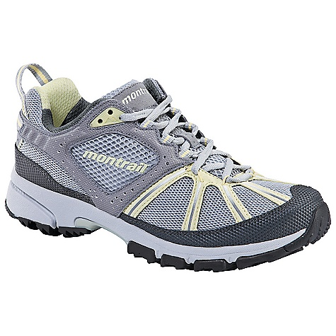 Free Shipping. Montrail Women's Streak Shoe (Fall 2010) FEATURES of the Women's Streak Shoe by Montrail Multi-directional outsole design offers exceptional traction in every direction Full foot Trail Shield protects the foot from rocks and trail debris Gryptonite outsole provides great traction on wet and dry surfaces SPECIFICATIONS: Midsole: Single-density compression molded EVA Durometer: 55 Asker C (+/-3 degrees) Ride Height: 24 mm heel, 16 mm fore foot Outsole: Gryptonite Weight: 9.8 oz. Protection: Trail Shield Toe Counter: Thermoplastic Fit Notes: Narrow, rounded heel, highly contoured arch, medium width toebox - $95.00