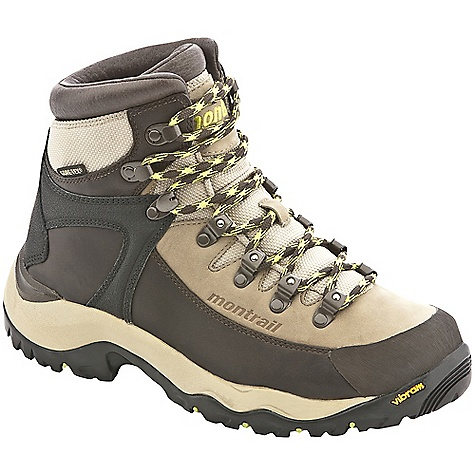 Camp and Hike On Sale. Free Shipping. Montrail Women's Feather Peak GTX Boot (Fall 2010) FEATURES of the Women's Feather Peak GTX Boot by Montrail Vibram rubber compound with aggressive lug pattern for traction on a variety of surfaces Full length polyurethane midsole with TPU footbed and metal shank for superior support Nubuk with high-abrasion leather overlays and scratch leather toe cap for toe protection Quick pull features ball-bearing design for friction resistant lacing SPECIFICATIONS: Midsole: Polyurethane Durometer: 65 Asker C (+/-3 degrees) Ride Height: 20 mm heel, 8 mm forefoot Outsole: Vibram Trek Weight: 1 lb 6.6 oz. Protection: Full-length injected propylene last with internal steel midfoot shank for maximum torsional rigidity and support Toe Counter: High abrasion rubber Fit Notes: High instep, tall volume, roomy toebox - $141.99