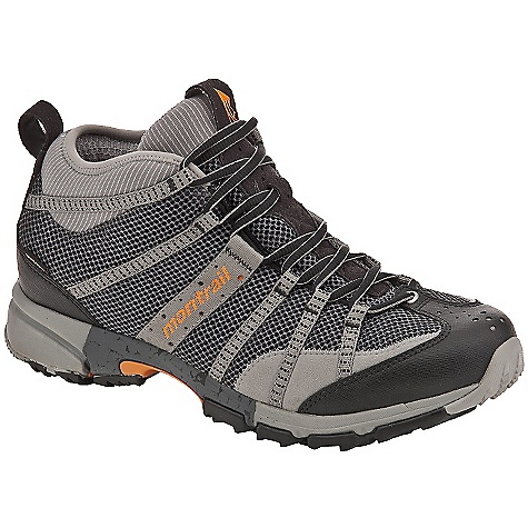 Camp and Hike Free Shipping. Montrail Men's Mountain Masochist Mid GTX Boot DECENT FEATURES of the Montrail Men's Mountain Masochist Mid GTX Boot Midheight neoprene collar provides articulated support and keeps out trail debris Webbing and strap closure system provides exceptional fit and comfort Highly-breathable hydrophobic mesh enhances the performance of the Gore-Tex bootie construction Gusseted tongue keeps out debris Midfoot lateral and medial dual-density trail stability post The SPECS Midsole: Dual-density molded EVA Durometer: Medial and lateral posting 68 Asker C / 58 Asker C (+/-3 degrees) Ride Height: 20 mm heel, 10 mm forefoot Outsole: Gryptonite Weight: 13.8 oz / 391 g Protection: Full-length Trail Shield Toe Counter: Synthetic overlay Fit: Snug midfoot and open toe box - $134.95