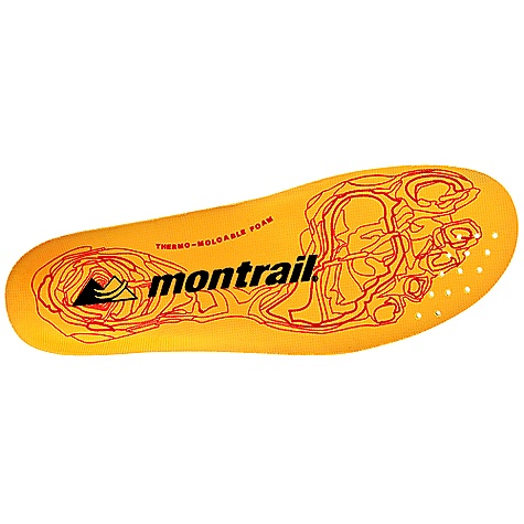 Montrail Men's Enduro-Sole LP Insole DECENT FEATURES of the Montrail Men's Enduro-Sole LP Insole High-rebound heel pad accentuates your heel's natural shock absorbing ability Molded base flexes with your foot's natural range of motion while providing outstanding medial arch support Prfrm thermo-moldable foam molds to the unique bone structure and shape of each foot, offering more surface area contact and dispersing pressure points Synthetic abrasion-resistant top sheet wicks away moisture The SPECS Midsole: Prfrm Foam with PEBAX arch piece Ride Height: 6 mm (Enduro-Sole), 5 mm (Enduro-Sole LP) Weight: 1.5 oz / 43 g - $39.95