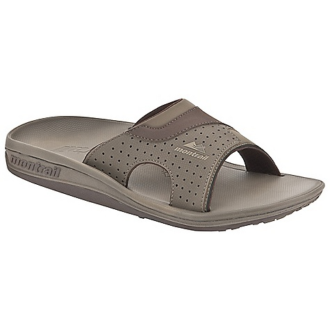 Entertainment Free Shipping. Montrail Men's Lithia Slide Sandal DECENT FEATURES of the Montrail Men's Lithia Slide Sandal Soft dynamic upper strap with in.instepin. release for comfort Full-length Integrafit footbed geometry for unsurpassed arch and fascia support Textured thermo-moldable Prfrm footbed creates a customized fit by conforming to the contour of your foot A firm arch, fascia, and metatarsal posting configuration on the Prfrm footbed and midsole for in.localizedin. support to rejuvenate the fascia after stress Full-length Gryponite outsole with low three-point lug design for multidirectional traction The SPECS Midsole: Compression-molded EVA Durometer: Top footbed post is 50 ( 3 degrees), Footbed hardness is 40 ( 3 degrees), Midsole post hardness is 55 (  degrees) Outsole: Gryptonite Weight: 6.2 oz / 176 g - $69.95