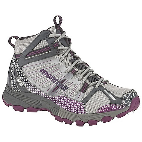 Camp and Hike On Sale. Free Shipping. Montrail Women's Badrock Mid OutDry Boot DECENT FEATURES of the Montrail Women's Badrock Mid OutDry Boot Variable Fit system-variable width lacing, with a dynamic welded in.seamlessin. support frame-provides a custom fit and additional mid-cut support and protection on the trail Full-length compression-molded EVA midsole for cushioning Dual density compression-molded heel frame for stability and support Firm 360deg perimeter density surrounds a softer center for support and protection on the trail Deflecting lugs for cushioning Digging lugs at perimeter provide traction for up- and downhill runs Terra-Hex Midsole a field of hexagonal posts, gives the shoe added cushioning and multi-directional flexibility The SPECS Midsole: Compression-molded EVA Durometer: 68 Asker-58 Asker C (+/- 3 degrees) Ride Height: 21 mm heel, 11 mm forefoot Outsole: Gryptonite Protection: Forefoot-only Trail Shield Toe Counter: Synthetic overlay Weight: 12.5 oz / 354 g Fit: Snug midfoot and open toe box - $126.99