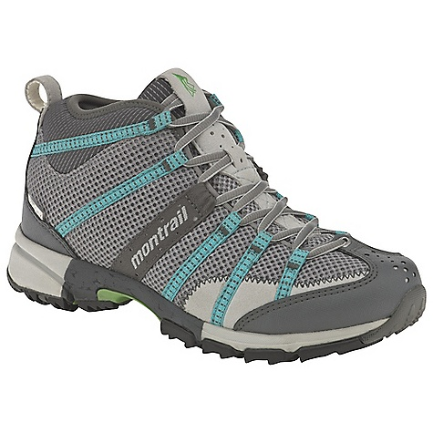 Camp and Hike Free Shipping. Montrail Women's Mountain Masochist Mid OutDry Boot DECENT FEATURES of the Montrail Women's Mountain Masochist Mid OutDry Boot Webbing and strap closure system provides exceptional fit and comfort for the long run Full foot Trail Shield protects the foot from rocks and trail debris Gryptonite outsole provides great traction on wet and dry surfaces Gusseted tongue keeps out debris Big, angled blades at the forefoot dig deep for grip on loose or muddy terrain Digging lugs provide grip on mud, gravel, and other loose surfaces The SPECS Midsole: Single-density molded EVA Durometer: Medial Post 65 Asker C / 55 Asker C (+/- 3 degrees) Ride Height: 20 mm heel, 10 mm forefoot Outsole: Gryptonite Protection: Forefoot-only Trail Shield Toe Counter: Synthetic overlay Weight: 12.1 oz / 343 g Fit: Snug midfoot and open toe box - $139.95