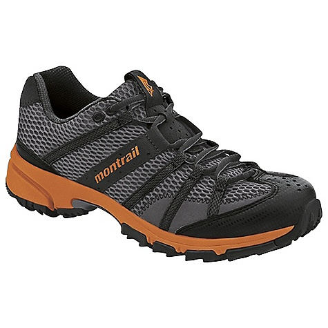 Fitness Free Shipping. Montrail Men's Mountain Masochist II Shoe DECENT FEATURES of the Men's Mountain Masochist II Shoe Webbing and strap closure system provides exceptional fit and comfort for the long run Full foot Trail Shield protects the foot from rocks and trail debris Lightweight, compression molded EVA and low profile midsole provide a responsive ride Gusseted tongue keeps out debris Big, angled blades at the forefoot dig deep for grip on loose or muddy terrain Digging lugs provide grip on mud, gravel, and other loose surfaces The SPECS Midsole: Single-density molded EVA Durometer: 55 Asker-65 Asker C ( 3 degrees) FluidPost Ride Height: 16 mm heel, 8 mm forefoot Outsole: Gryptonite Weight: 10.8 oz / 306 g Protection: Full length Trail Shield Toe Counter: Synthetic overlay - $99.95