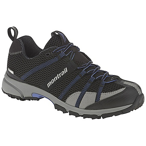 Fitness Free Shipping. Montrail Men's Mountain Masochist II OutDry Shoe DECENT FEATURES of the Montrail Men's Mountain Masochist II OutDry Shoe Webbing and strap closure system provides exceptional fit and comfort for the long run Full foot Trail Shield protects the foot from rocks and trail debris Gryptonite outsole provides great traction on wet and dry surfaces Gusseted tongue keeps out debris Big, angled blades at the forefoot dig deep for grip on loose or muddy terrain Digging lugs provide grip on mud, gravel, and other loose surfaces The SPECS Midsole: Single-density molded EVA Durometer: 55 Asker-65 Asker C ( 3 degrees) FluidPost Ride Height: 16 mm heel, 8 mm forefoot Outsole: Gryptonite Weight: 13.2 oz / 374 g Protection: Full length Trail Shield Toe Counter: Synthetic overlay - $134.95