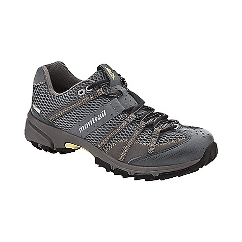 Fitness On Sale. Free Shipping. Montrail Women's Mountain Masochist II OutDry Shoe DECENT FEATURES of the Montrail Women's Mountain Masochist II OutDry Shoe Webbing and strap closure system provides exceptional fit and comfort for the long run Full foot Trail Shield protects the foot from rocks and trail debris Gryptonite outsole provides great traction on wet and dry surfaces Gusseted tongue keeps out debris Big, angled blades at the forefoot dig deep for grip on loose or muddy terrain Digging lugs provide grip on mud, gravel, and other loose surfaces The SPECS Midsole: Single-density molded EVA Durometer: 55 Asker-65 Asker C ( 3 degrees) FluidPost Ride Height: 16 mm heel, 8 mm forefoot Outsole: Gryptonite Weight: 10.6 oz / 301 g Protection: Full length Trail Shield Toe Counter: Synthetic overlay - $99.99