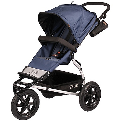 Entertainment On Sale. Free Shipping. Mountain Buggy Urban Jungle Single Stroller FEATURES of the Urban Jungle Single Stroller by Mountain Buggy Follow the sun - adjustable canopy hood with flick out sun visor Zip in sun cover 12in. air tires Rear wheel suspension Narrow wheel base - 63cm / 25in. Suitable for newborns, infants and toddlers Adjustable seat position from upright to fully reclined for newborn Carrycot compatible Travel system compatible Padded harness and crotch restraint with new quick release harness clip and safety button Multi adjustable handle Swivel front wheel for easy maneuvering or lock for more stability going across uneven surfaces Gear tray for up to 5kgs Peek a boo flap 2-step easy fold with quick release wheels Foot operated brake Hard wearing polyester fabric - water repellent and durable Easy to remove fabric set Detachable bumper bar Bottle holder SPECIFICATIONS: Age: newborn - 5yrs Seat Load: 11 kg / 24 lbs Weight: 9.5 kg / 21 lbs Aluminum frame Wipe clean Travel system compatible Dimensions: Width: 63 cm / 25in. Safety Certified: EN 1888:2005 - Europe, ASTM F833-08 - USA, AS/NZS 2088:2000 - CPN8 - Aus/NZ, SOR/85-379 - Can OVERSIZE ITEM: We cannot ship this product by any expedited shipping method (3-Day, 2-Day or Next Day). Even if you pick that option, it will still go Ground Shipping. Sorry for being so mean. This product can only be shipped within the United States. Please don't hate us. - $424.99