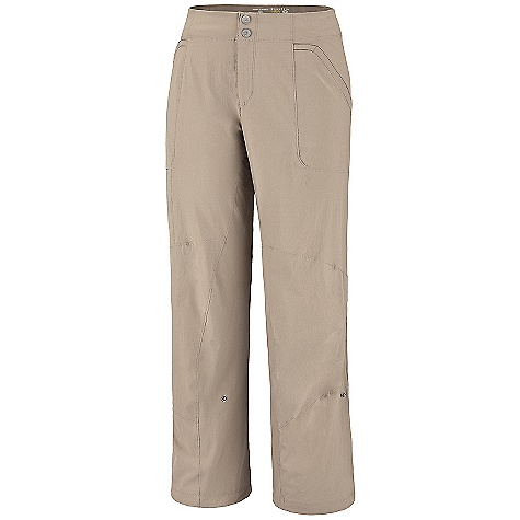 Climbing Free Shipping. Mountain Hardwear Women's Petra Pant The Women's Petra Pant by Mountain Hardwear. Good for granite: breathable, abrasion-resistant stretch nylon and an inseam gusset. Chalk bag loop at waist. FEATURES of the Women's Petra Pant by Mountain Hardwear Chalk bag loop at center back waistband Internal waist elastic tabs for easy fit adjustments Lots of pockets for storage Full-length inseam gusset and articulated knees for mobility Roll-up snap tabs inside hem for foot placement visibility Durable, 4-way stretch fabric for movement DWR finish sheds moisture UPF 50 sun protection SPECIFICATIONS: Avg. Weight: 11 oz.; 308 g. (size 8) Inseam Length: 32in.; 81 cm. Fabric: body: Switchback Plus (85% nylon, 15% elastane) Usage: Climbing / Athletic - $64.95