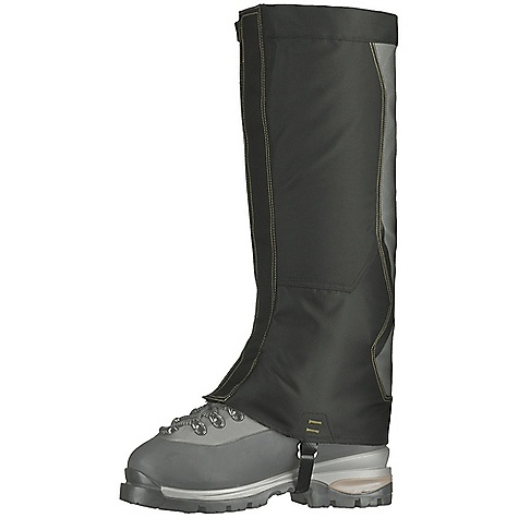 Camp and Hike Free Shipping. Mountain Hardwear Ascent Stretch Air Perm Gaiter DECENT FEATURES of the Mountain Hardwear Ascent Stretch Air Perm Gaiter Nylon construction with polyurethane waterproof coating 4-way stretch air-permeable and breathable back panels allow air flow for cooling Excellent strength and abrasion resistance Fits high-profile leather backpacking boots Pinless boot strap buckle won't break in the field The SPECS Average Weight: 9 oz / 264 g Height: 17.5in. / 44 cm Panel: Nylon knit stretch (100% nylon) Upper: Nylon Taslan (100% nylon) - $64.95