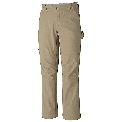 Free Shipping. Mountain Hardwear Men's Piero Pant DECENT FEATURES of the Mountain Hardwear Men's Piero Pant Durable, stretch canvas fabric Micro-Chamois-lined waist for comfort under a harness Inseam gusset and articulated knees for mobility DWR finish sheds moisture The SPECS Average Weight: 1 lb 4 oz / 562 g Inseam: 30, 32, 34in. / 76, 81, 86 cm Body: Salado Stretch Canvas (95% nylon, 5% elastane) - $89.95