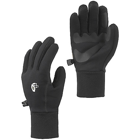 On Sale. Mountain Hardwear Women's Heavyweight Power Stretch Glove DECENT FEATURES of the Mountain Hardwear Women's Heavyweight Power Stretch Glove Designed to fit a woman's smaller hand proportions Snug-fitting, heavy weight Polartec Power Stretch keeps hands warm and allows them to breathe Flat-lock construction for a seamless fit Welded palm and finger patches add wear resistance and enhance grip Seamless finger tips for increased sensitivity Wear alone or use as a liner Imported The SPECS Average Weight: 1.3 oz / 38 g Body: Polartec Power Stretch (88% polyester, 12% elastane) Palm: Welded Polyurethane - $18.99