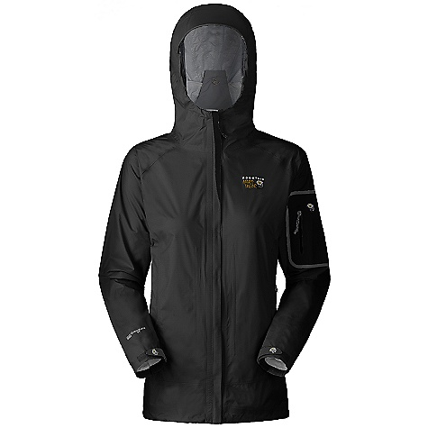 On Sale. Free Shipping. Mountain Hardwear Women's Cohesion Jacket (Fall 2010) FEATURES of the Women's Cohesion Jacket by Mountain Hardwear Attached roll-away Ergo hood fits over helmet, single-handed drawcord for quick adjustments Waterproof, breathable stretch panels on back and sleeves for mobility Water-resistant pit zips for ventilation Cuff tabs and hem drawcords for quick fit adjustments Micro-Chamois-lined chin guard eliminates zipper chafe SPECIFICATIONS: Avg weight: 13 oz. / 379 g. (size medium) Center back length: 28in. / 71 cm. Ratings: waterproofness: 10,000 mm., breathability / MVTR: 10,000 g./m2 Fabric: body: Ark 40D Rip (100% nylon), panel: Ark Stretch (100% nylon), laminate: Conduit DT - $79.99