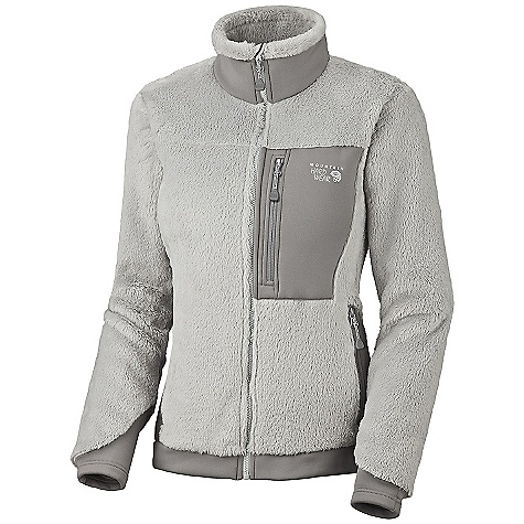 On Sale. Free Shipping. Mountain Hardwear Women's Monkey Woman Jacket DECENT FEATURES of the Mountain Hardwear Women's Monkey Woman Jacket MicroClimate Zoning construction for built-in warmth, breathability and stretch Extremely warm, extremely soft Stretch hem and cuffs seal in warmth Zip handwarmer pockets Chest pocket for maps, snacks, and other goodies The SPECS Average Weight: 15 oz / 430 g Center Back Length: 26in. / 66 cm Body: Polartec ThermalPro Monkey Phur 100% polyester Panel: Polartec Power Stretch 88% polyester, 12% elastane - $119.96