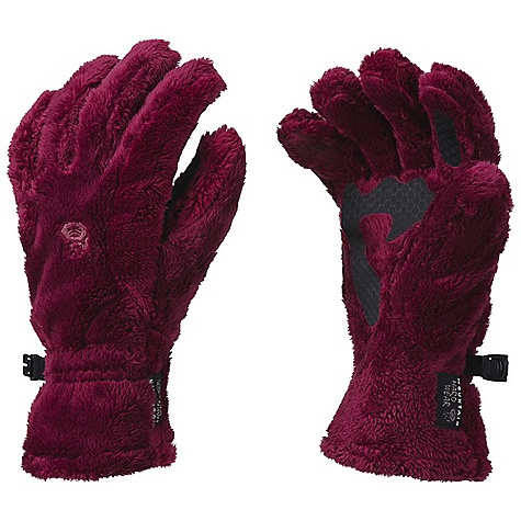 Mountain Hardwear Women's Monkey Glove DECENT FEATURES of the Mountain Hardwear Women's Monkey Glove Designed with woman's specific fit Soft, warm long-pile fleece blocks wind and cold and provides a high warmth-to-weight ratio Screen print on palm keeps phone secure while holding Wear alone or use as a spare liner with compatible system gloves or mitts The SPECS Average Weight: 2 oz / 62 g Body: Polartec ThermalPro Monkey Phur (100% polyester) Palm: Technostretch (93% polyester, 7% elastane) - $29.95