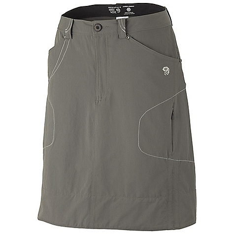 Free Shipping. Mountain Hardwear Women's La Strada Skirt DECENT FEATURES of the Mountain Hardwear Women's La Strada Skirt Durable stretch fabric for movement Water-repellent finish sheds moisture Dri-Release fabric lining wicks moisture Side seam cinch drawcords for mobility Lots of pockets for storage UPF 50 sun protection Imported The SPECS Apparel Fit: Semi-Fitted Average Weight: 7.8 oz / 220 g Outseam: 18in. Body: Strolling Stretch Twill (94% nylon, 6% elastane) Lining: Locator Pass Stretch Jersey (80% polyester, 14% cotton, 6% elastane) - $64.95