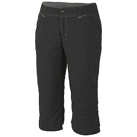 On Sale. Free Shipping. Mountain Hardwear Women's Overlook Pedal Pusher DECENT FEATURES of the Mountain Hardwear Women's Overlook Pedal Pusher Micro-Chamois-lined waist for comfort Inner waist drawcord for fit adjustments Full length inseam gusset for mobility Lots of pockets for storage Durable, wicking, fast-drying fabric UPF 50 sun protection Imported The SPECS Apparel Fit: Semi-Fitted Average Weight: 8.1 oz / 230 g Inseam: 17in. / 43 cm Body: New Heights Slub (100% nylon) Lining: Micro-Chamois (100% brushed polyester) - $34.99