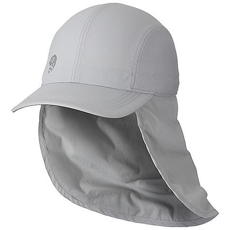 On Sale. Mountain Hardwear Men's Ravi Flap Cap DECENT FEATURES of the Mountain Hardwear Men's Ravi Flap Cap Brushed stretch nylon fabric with a soft, cottonlike hand and a wicking finish Adjustable drawcord headband Neck gaiter provides protection from the sun Dark, glare-reducing color under brim Extremely lightweight UPF 25 sun protection Imported The SPECS Average Weight: 2.8 oz / 80 g Body: Summit Stretch Plainweave (93% nylon, 7% elastane) Panel: Micro Mesh (100% polyester) - $27.96