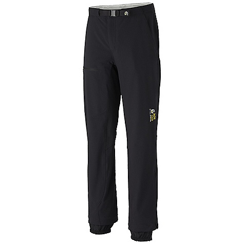 Free Shipping. Mountain Hardwear Men's Nima Pant DECENT FEATURES of the Mountain Hardwear Men's Nima Pant Micro-Chamois-lined waist with an adjustable webbing belt for a comfortable, chafe-free fit Four-way stretch fabric, gusseted crotch, and articulated knees for mobility Zippered thigh vents for ventilation Zip-off screw cuff keeps out debris Ankle zips with snap for fit adjustments Imported The SPECS Average Weight: 1 lb 5 oz / 607 g Inseam: 30in. / 76 cm, 32in. / 81 cm, 34in. / 86 cm Body: Thorn guard Double weave (91% nylon, 9% elastane) - $164.95