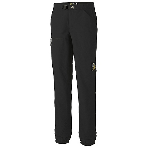 Free Shipping. Mountain Hardwear Women's Teralyn Pant DECENT FEATURES of the Mountain Hardwear Women's Teralyn Pant Micro-Chamois-lined waist with an adjustable webbing belt for a comfortable, chafe-free fit Four-way stretch fabric, gusseted crotch, and articulated knees for mobility Zippered thigh vents for ventilation Zip-off screw cuff keeps out debris Ankle zips with snap for fit adjustments Imported The SPECS Average Weight: 1 lb 3 oz / 535 g Inseam: 30in. / 76, 32in. / 81 cm , 34in. / 86 cm Body: Thorn guard Double weave (91% nylon, 9% elastane) - $164.95