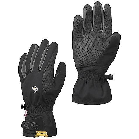 Entertainment Free Shipping. Mountain Hardwear Women's Epic Glove DECENT FEATURES of the Mountain Hardwear Women's Epic Glove Designed with woman's specific fit Full Velcro closure at wrist creates a secure and reliable fit Brushed polyester tricot lining adds warmth and wicks moisture Durable, high-grip synthetic palm The SPECS Average Weight: 3 oz / 81 g Body: Nylon Ripstop (100% nylon) Laminate: OutDry Waterproof Technology Palm: Synthetic Grip Palm (40% polyurethane, 39% polyester, 21% cotton) - $59.95